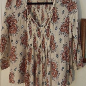 Anthropologie Vanessa Virginia Peasant Blouse M